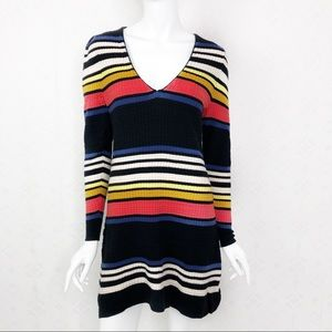 Free People Gidget Knit Striped Multi Color Dress